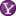 Social Yahoo Button Lilac Icon 16x16 png
