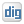 Social Digg Box White Icon 24x24 png