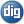 Social Digg Button Blue Icon 24x24 png