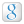 Social Google Box White Icon 24x24 png