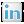 Social LinkedIn Box White Icon 24x24 png