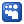 Social Myspace Box Blue Icon 24x24 png