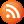 Social RSS Button Orange Icon 24x24 png