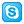Social Skype Box Blue Icon 24x24 png