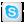 Social Skype Box White Icon 24x24 png