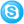 Social Skype Button Blue Icon 24x24 png