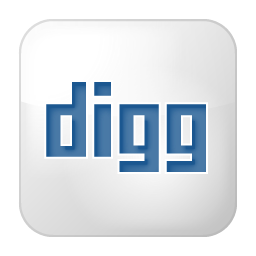 Social Digg Box White Icon 256x256 png