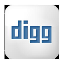 Social Digg Box White Icon 256x256 png