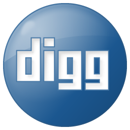 Social Digg Button Blue Icon 256x256 png