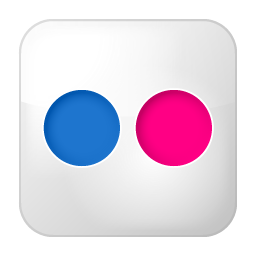 Social Flickr Box Icon 256x256 png