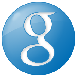 Social Google Button Blue Icon 256x256 png
