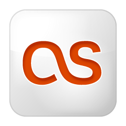 Social Last.fm Box White Icon 256x256 png