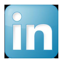 Social LinkedIn Box Blue Icon 256x256 png
