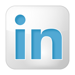 Social LinkedIn Box White Icon 256x256 png
