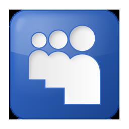 Social Myspace Box Blue Icon 256x256 png