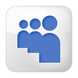 Social Myspace Box White Icon 256x256 png