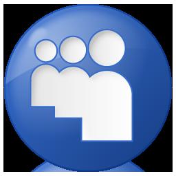 Social Myspace Button Blue Icon 256x256 png