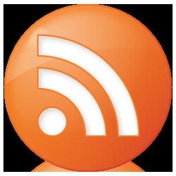 Social RSS Button Orange Icon 256x256 png