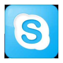 Social Skype Box Blue Icon 256x256 png
