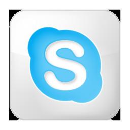 Social Skype Box White Icon 256x256 png