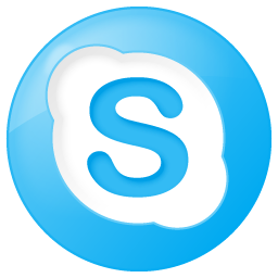 Social Skype Button Blue Icon 256x256 png