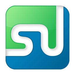 Social StumbleUpon Box Color Icon 256x256 png