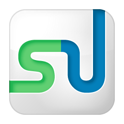 Social StumbleUpon Box White Icon 256x256 png
