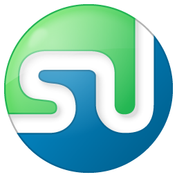 Social StumbleUpon Button Color Icon 256x256 png
