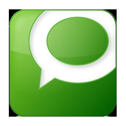 Social Technorati Box Green Icon 256x256 png