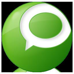 Social Technorati Button Green Icon 256x256 png