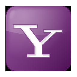 Social Yahoo Box Lilac Icon 256x256 png