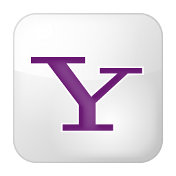 Social Yahoo Box White Icon 256x256 png