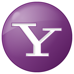 Social Yahoo Button Lilac Icon 256x256 png