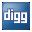 Social Digg Box Blue Icon 32x32 png