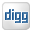 Social Digg Box White Icon 32x32 png