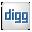 Social Digg Box White Icon 32x32 png