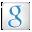 Social Google Box White Icon 32x32 png