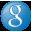 Social Google Button Blue Icon 32x32 png
