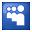 Social Myspace Box Blue Icon 32x32 png