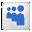 Social Myspace Box White Icon 32x32 png
