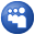 Social Myspace Button Blue Icon 32x32 png