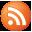 Social RSS Button Orange Icon 32x32 png