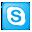 Social Skype Box Blue Icon 32x32 png