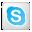 Social Skype Box White Icon 32x32 png