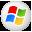 Social Windows Button Icon 32x32 png