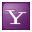 Social Yahoo Box Lilac Icon 32x32 png