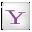 Social Yahoo Box White Icon 32x32 png