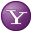 Social Yahoo Button Lilac Icon 32x32 png