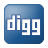 Social Digg Box Blue Icon 48x48 png