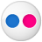 Social Flickr Button Icon 48x48 png